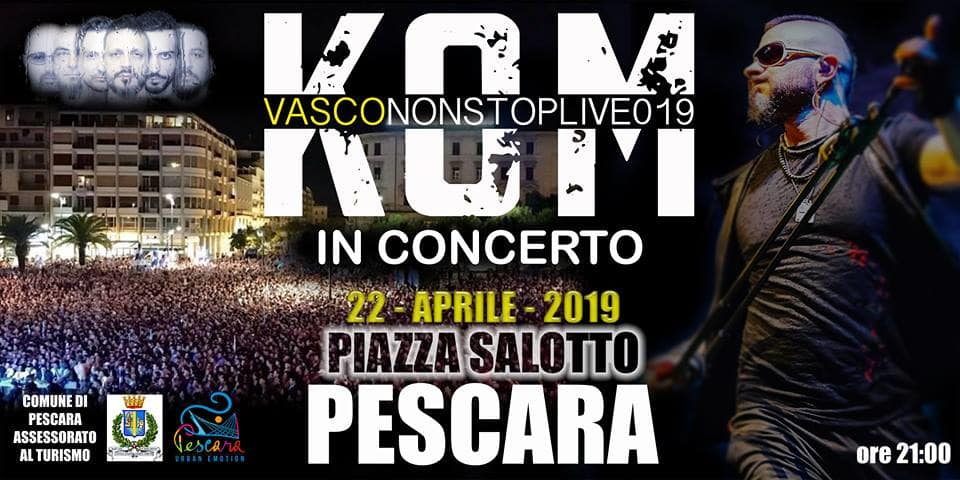 Pasquetta 2019 con i Kom (Vasco Rossi tribute) in Piazza Salotto