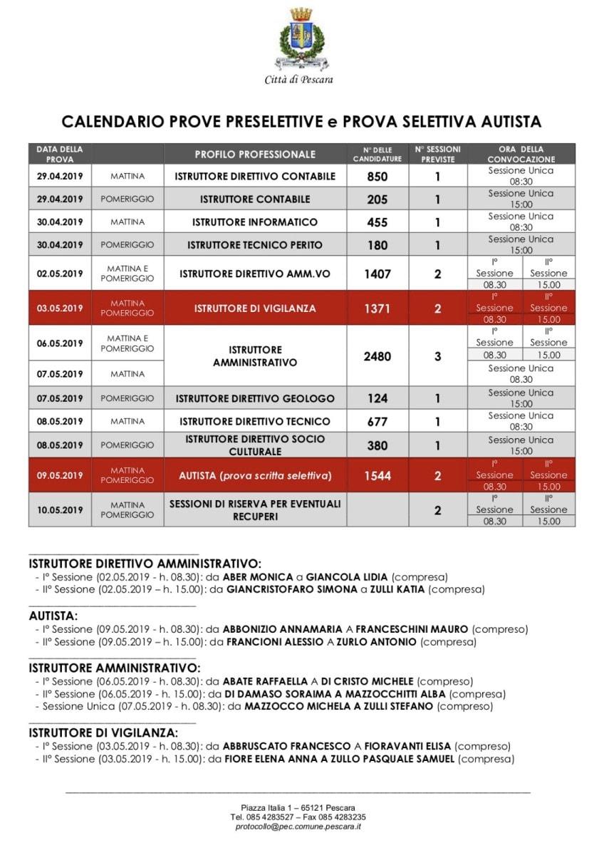 calendario prove concorso comune pescara-2