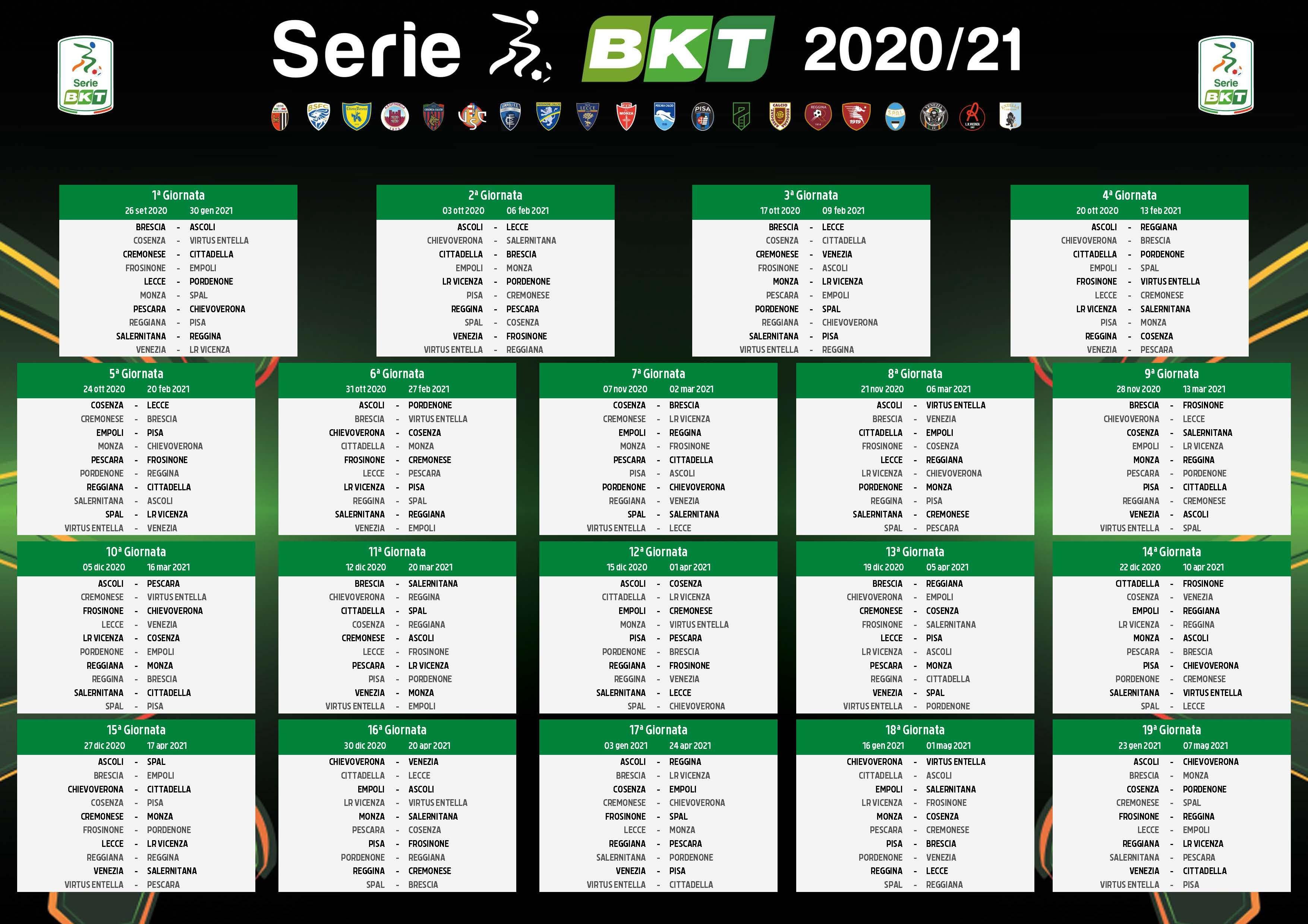 Calcio, sorteggiato il calendario della Serie B: il Pescara