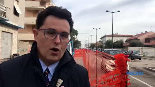 """VIDEO   Al via i lavori in via Pepe, il vice sindaco Blasioli: """"Ci saranno più alberi"""""""