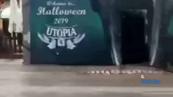 VIDEO | Incendio pub Utopia Montesilvano, l'intervento dei vigili del fuoco
