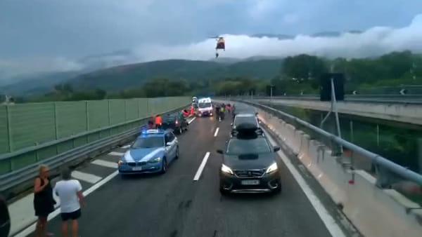VIDEO | Le immagini dell'incidente lungo l'autostrada A25
