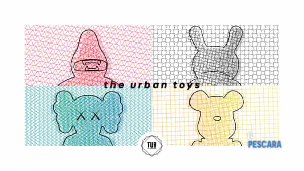"""The urban toys"" a The Urban Box con Kaws, Ron English, Frank Kozik e James Jarvis"