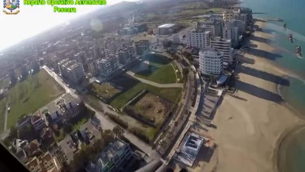 Coronavirus, Pescara deserta nonostante la giornata di sole: le immagini girate dalla Guardia di Finanza - VIDEO - FOTO -