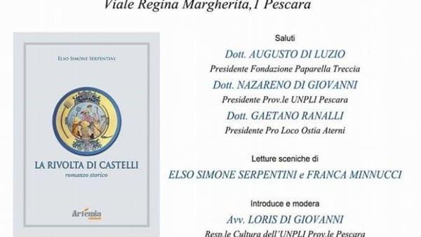 Elso Simone Serpentini presenta 'La rivolta di Castelli' al Museo Paparella Treccia