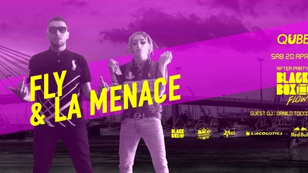 "Fly & La Menace per ""Blackbox Flow"" al Qube Club"