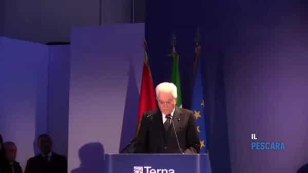 VIDEO | Cepagatti, il presidente Mattarella inaugura l'elettrodotto Italia-Montenegro