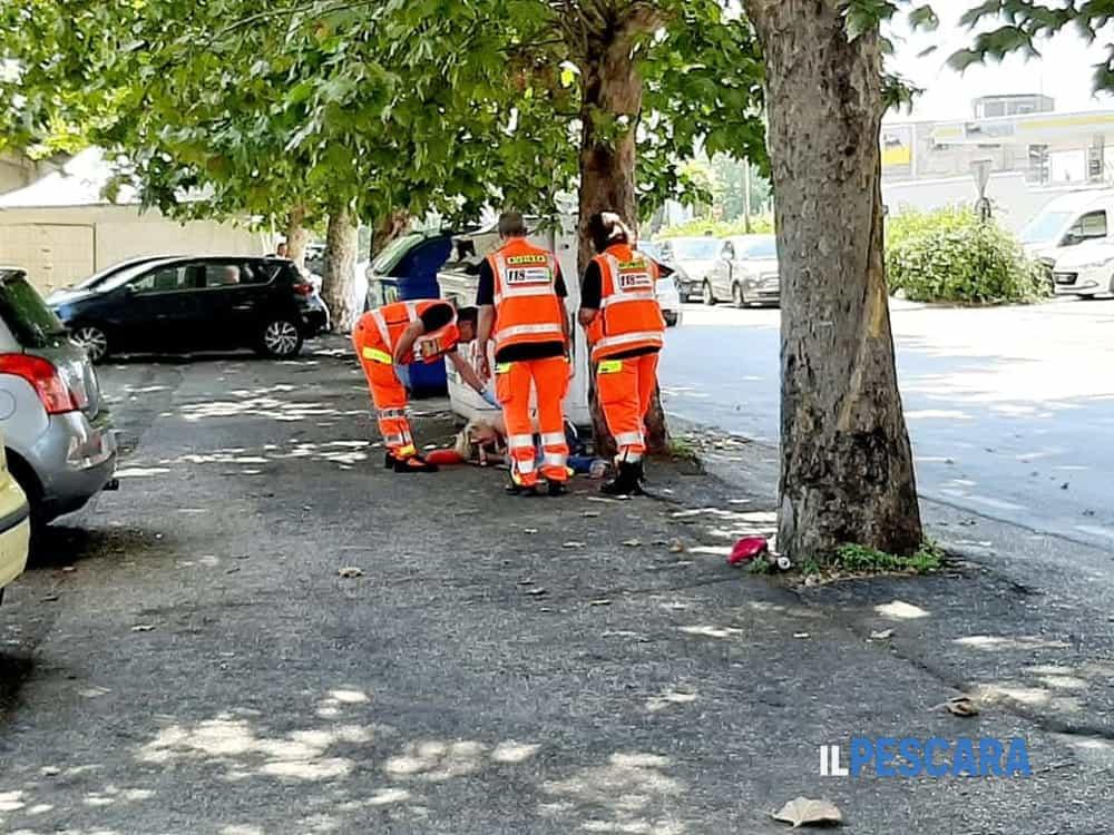 Ragazza soccorsa parcheggio Porta Nuova 2-2