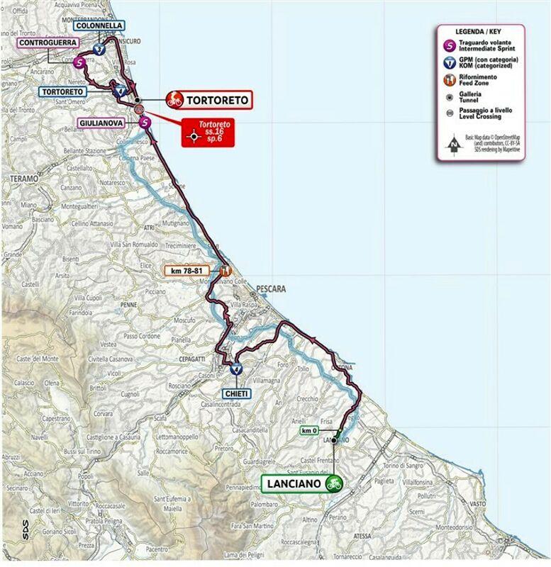 Cartina Dettagliata Abruzzo.Giro D Italia In Abruzzo I Percorsi Delle 2 Tappe Con Strade Chiuse E Divieti E La Viabilita Alternativa Mappe